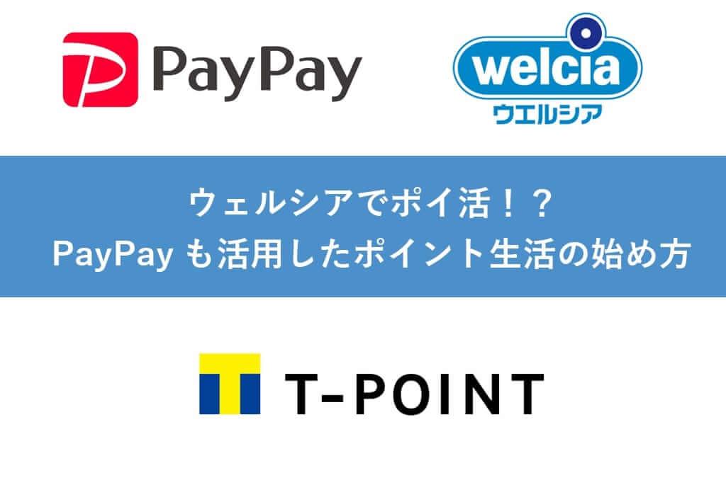 【Tポイント】ウェルシアでポイ活!?PayPayも活用したポイント生活の始め方ブログ